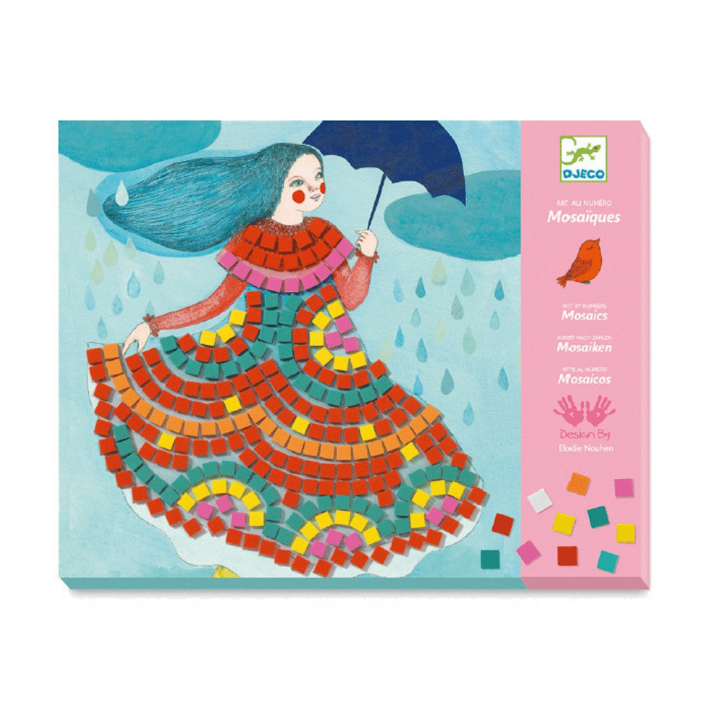 DJECO Mosaics Art By Numbers - Party Dresses - Fairy Kitten