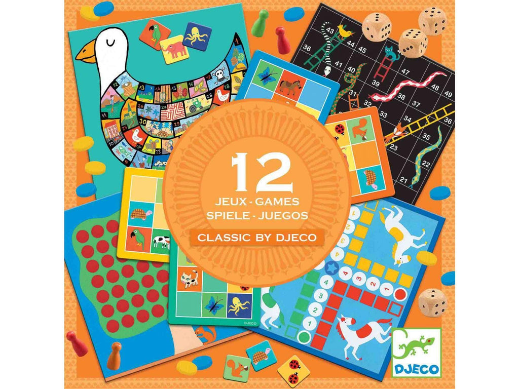 DJECO DJ05218 Box of 12 Classic Games by Djeco - Fairy Kitten