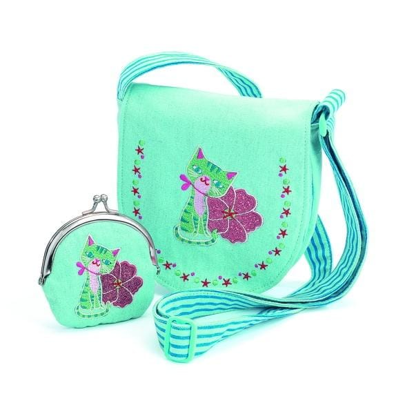 DJECO DJ06679 Embroidered kitten bag and purse - Fairy Kitten