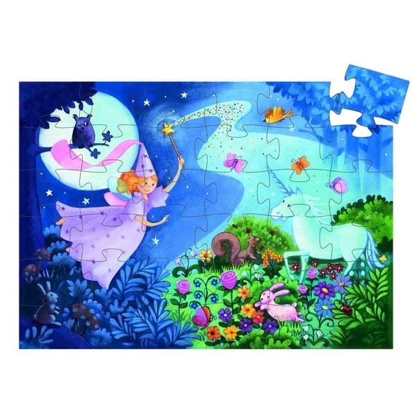 DJECO DJ07225 Djeco Puzzle Fairy & Unicorn - Fairy Kitten