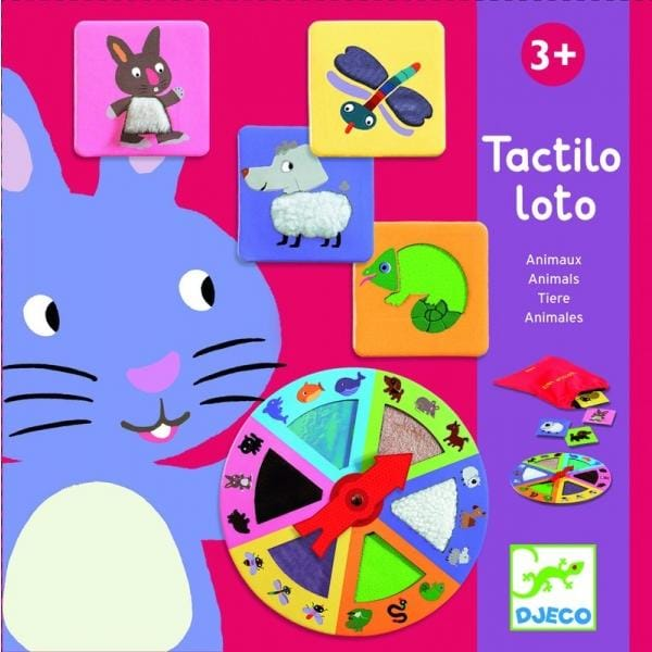 DJECO DJ08129 Tactilo lotto Animals - Fairy Kitten