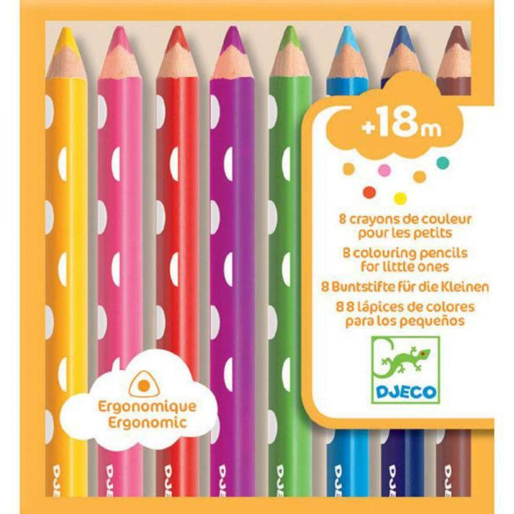 DJECO DJ09004 8 colouring pencils for littles ones - Fairy Kitten