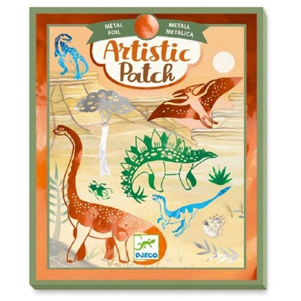 DJECO DJ09463 Djeco Artistic Patch Metal Collages - Dinosaurs - Fairy Kitten