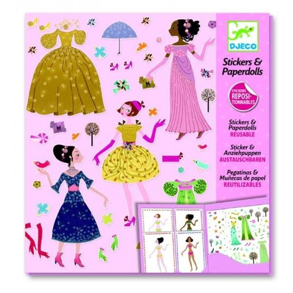 DJECO DJ09690 Paper dolls - Dresses through the seasons - Fairy Kitten