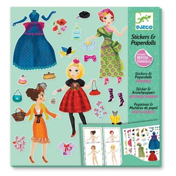DJECO DJ09691 Paper dolls - Massive fashion - Fairy Kitten