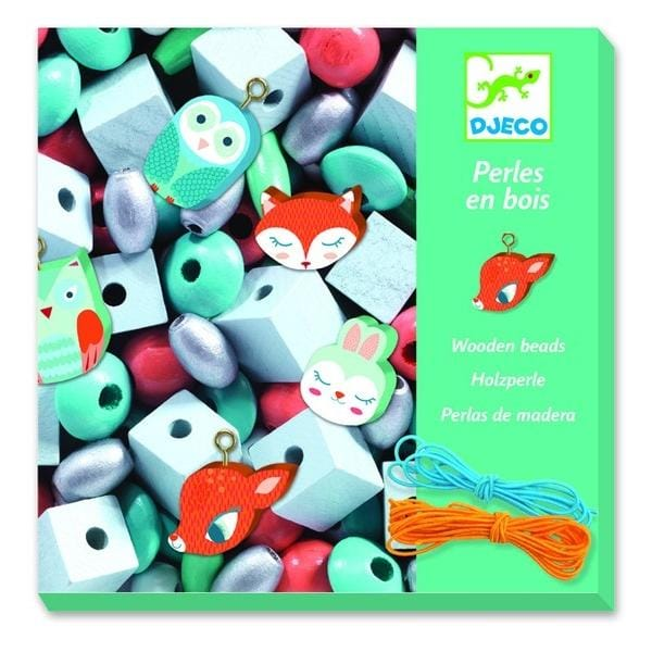 DJECO DJ09807 Wooden beads - small animals - Fairy Kitten