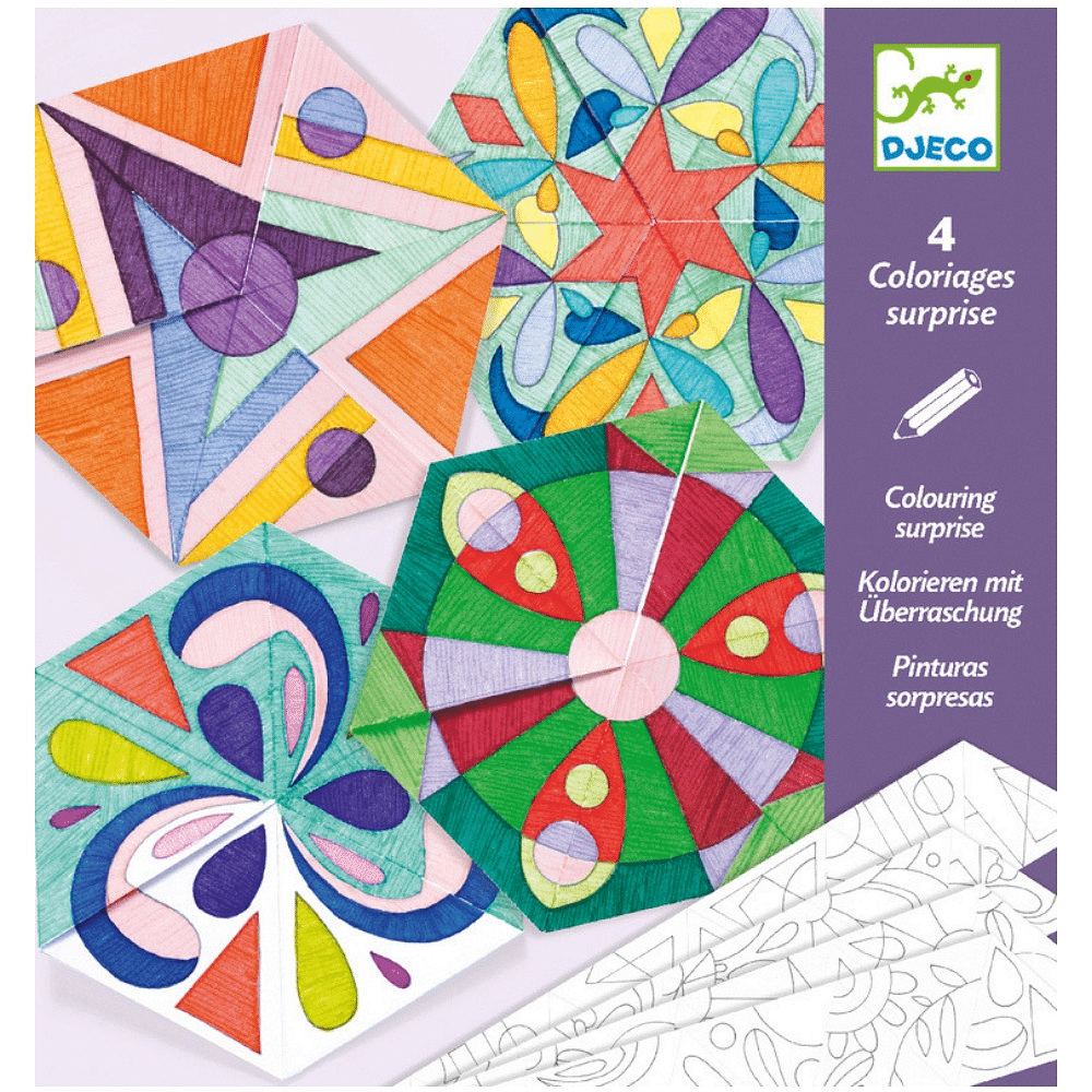 DJECO Colouring Surprise Rosette Mandalas - Fairy Kitten
