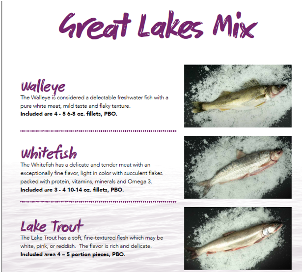Great Lakes Seafood Variety Pack