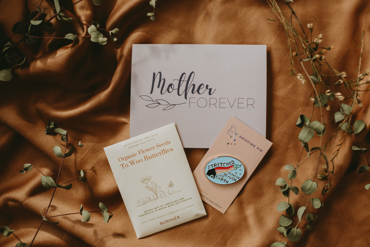 Bereaved Mother's Day Gift (Card/Pin/Seeds)