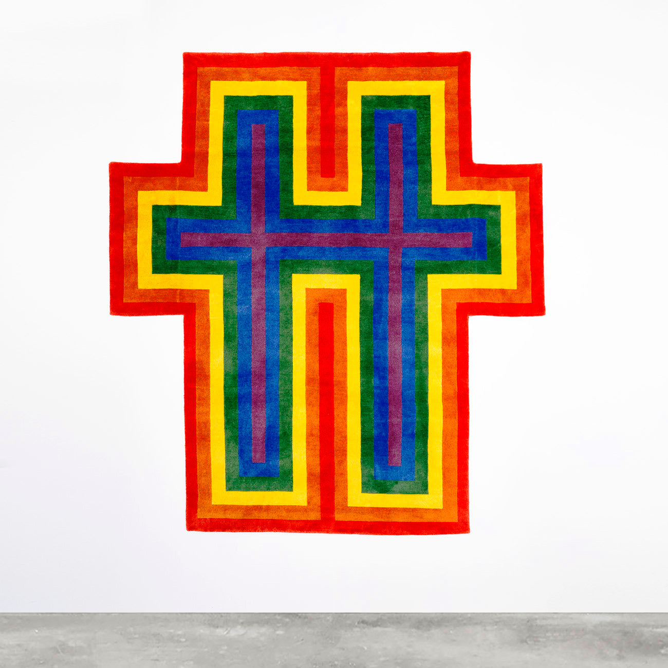 JONATHAN HOROWITZ, RAINBOW CROSS FOR TWO, 2018 (QS)