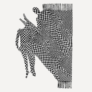 OLAF BREUNING, BLACK AND WHITE PEOPLE PATTERN, 2017 (QS)
