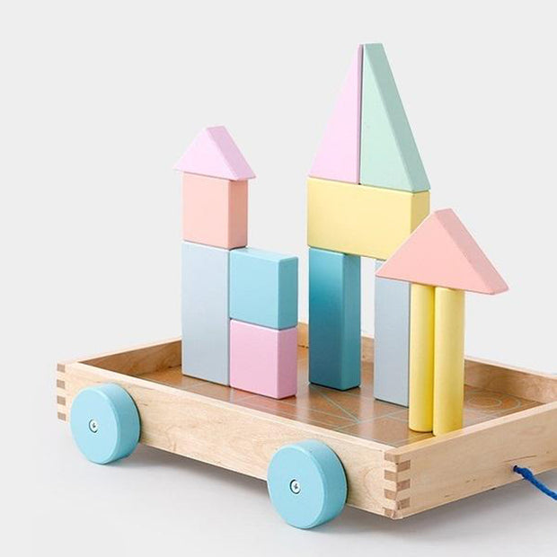 Wooden Shapes Cart