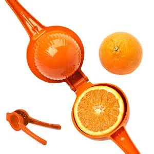Cast Aluminum Citrus Juicer - Orange