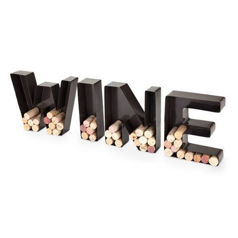 """WINE"" Cork Holder"