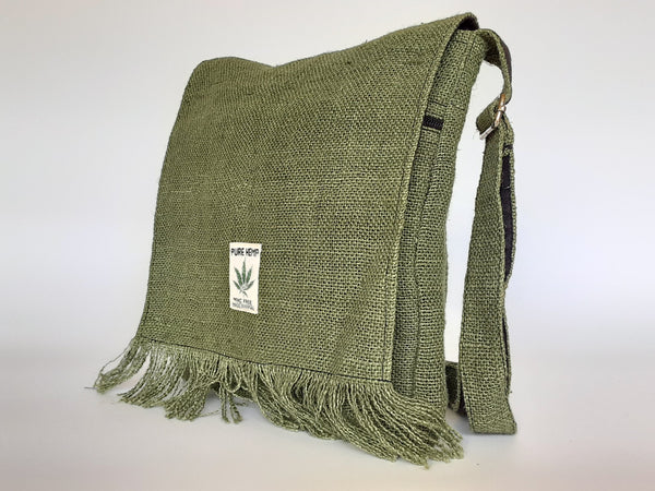 Hemp Cross-Body Messenger Bag / Made in Nepal
