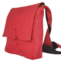 Hemp Cross-Body Red Messenger Bag by Kashi