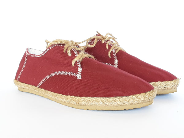 Hemp Handmade Shoes / Red