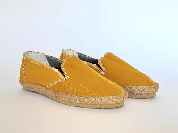 Hemp Handmade Slip-On Shoes / Mustard