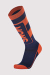 Mons Tech Cushion Sock Mens - Navy / Orange Smash