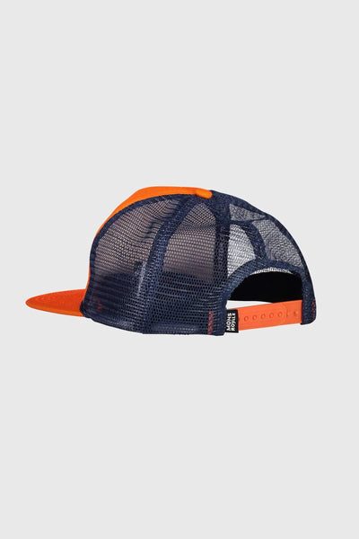 The ACL Trucker Cap - Atlantic / Orange Smash