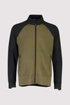Nevis Wool Fleece Jacket - Canteen / Black