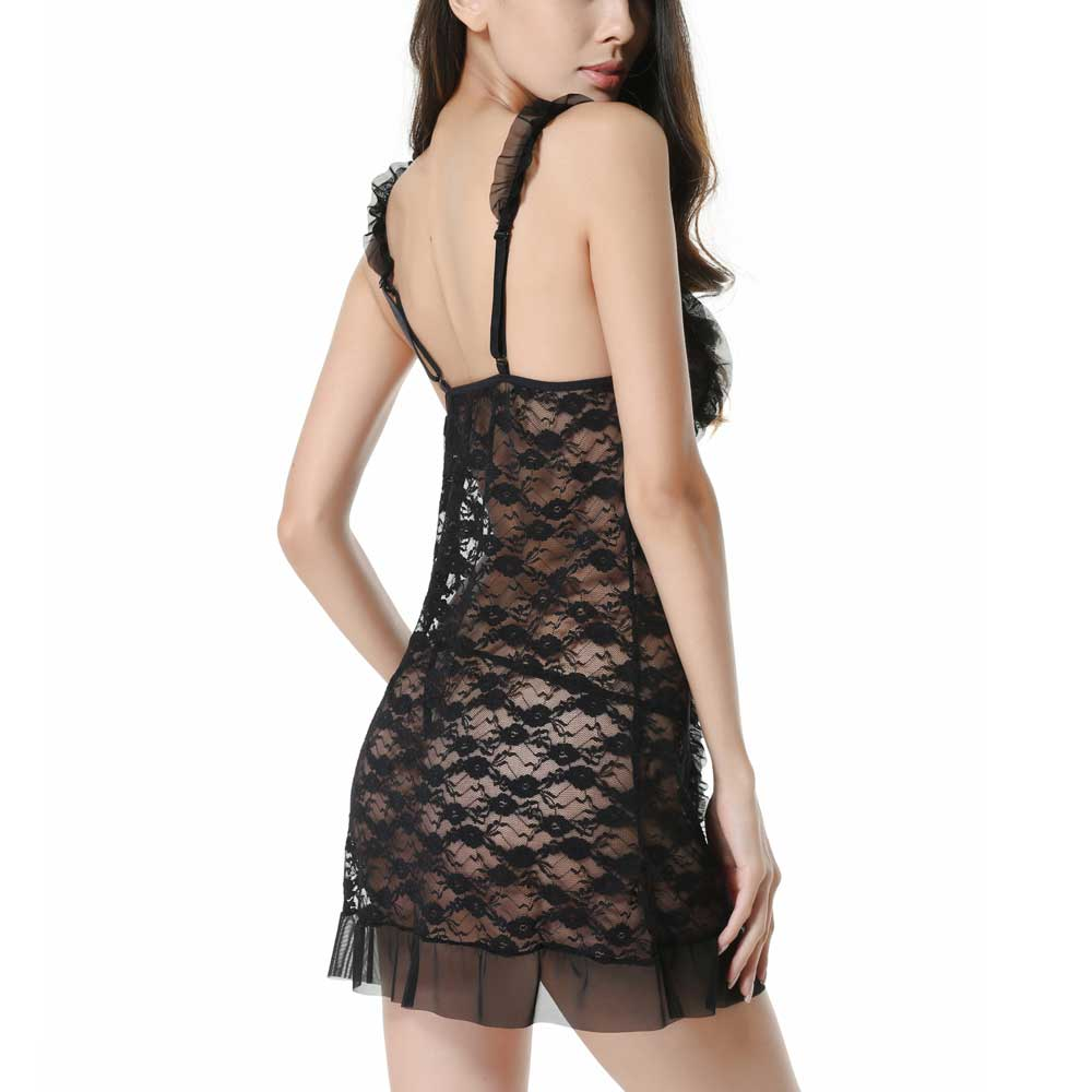 Lyps Luxury Lace Babydoll Sexy Lingerie For Women Set Mini Bodysuit