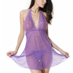 Lyps Babydoll Sexy Lingerie with G-string (Purple)