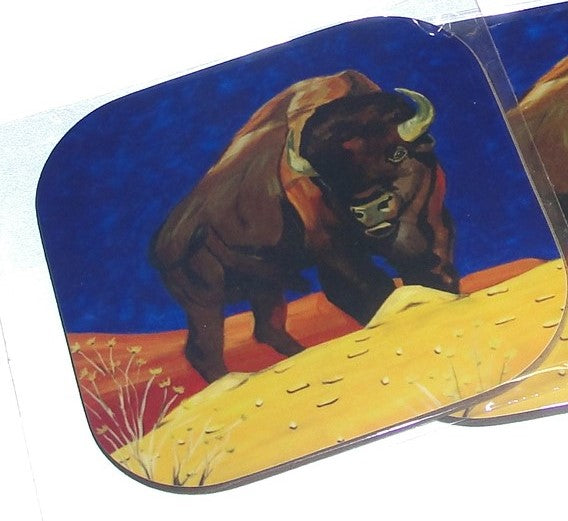 Coasters, Autumn Bison, Native Art