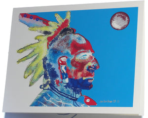 Note card, Osage Warrior of the Past