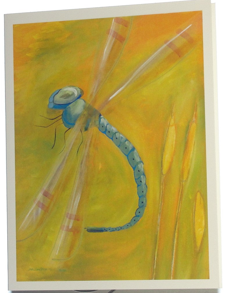 Note card, Dragonfly
