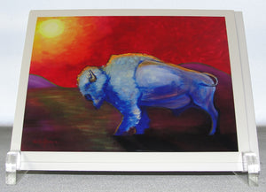 Note cards, Box of 10 note card of the painting; Bison or Buffalo