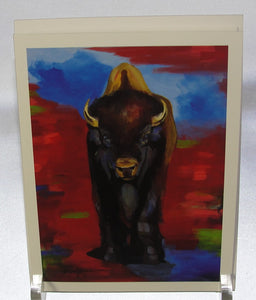 Note card, Bison Territory