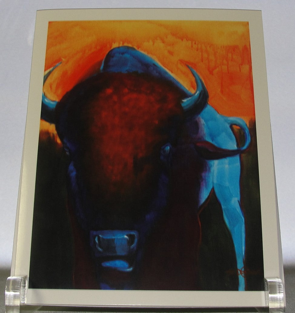 Print, Bison Head On