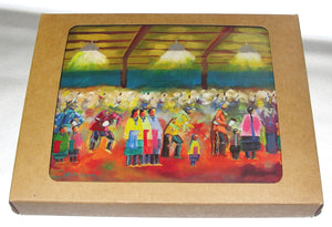 Note cards, Box of 10 note card of the painting; Osage People in Groups