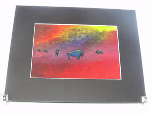 Print, Bison on the Prairie