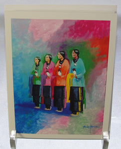 Note card, Lady Dancers 2