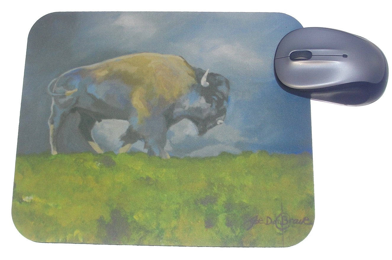 Mouse Pad, Spring Bison