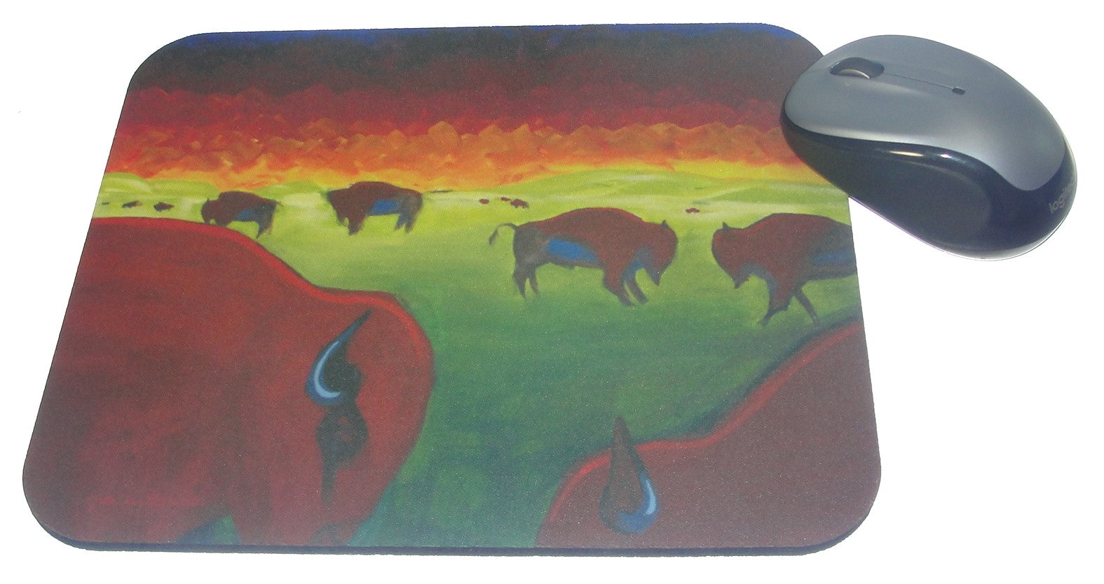Mouse Pad, Bison on the Prairie