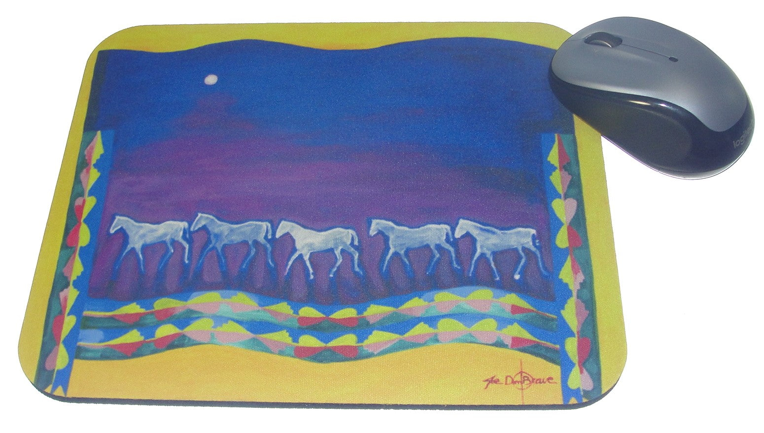 Mouse Pad, Osage Ladies Blanket with Horses