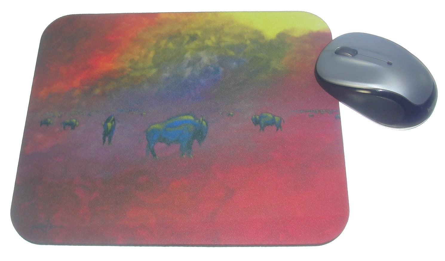 Mouse Pad, Summer Heat (Bison on the Prairie 2)
