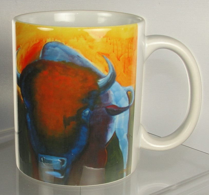 Mug, Bull Bison Straight On