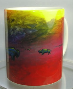 Mug, Coffee; Bison on the Prairie