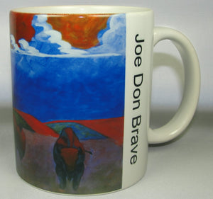 Mug, Coffee;  Bison in a Storm, on the Prairie