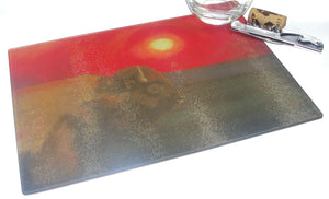 Cutting Board, Glass, Summer Bison