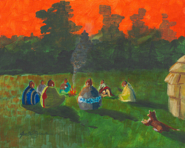Note card, Evening Campfire