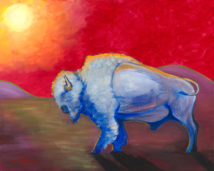 Note card, White Bison