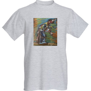 Tee Shirt, Short Sleeve; Straight Dancer in Pencil