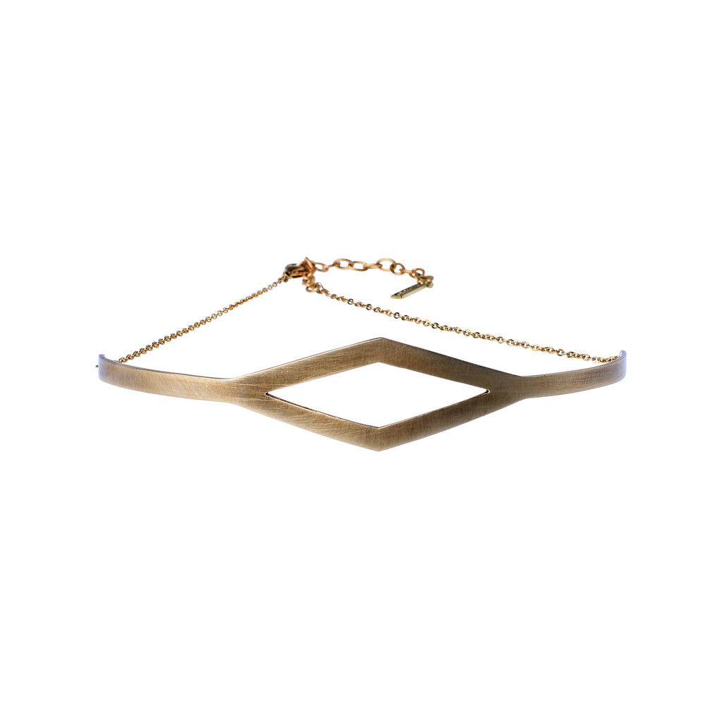 Frame Chocker Kette aus Messing