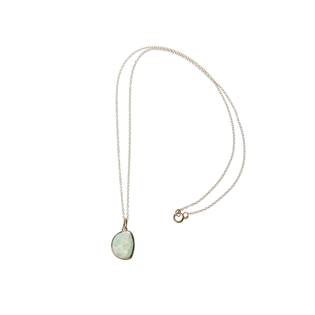 Green Pearl Necklace Slim