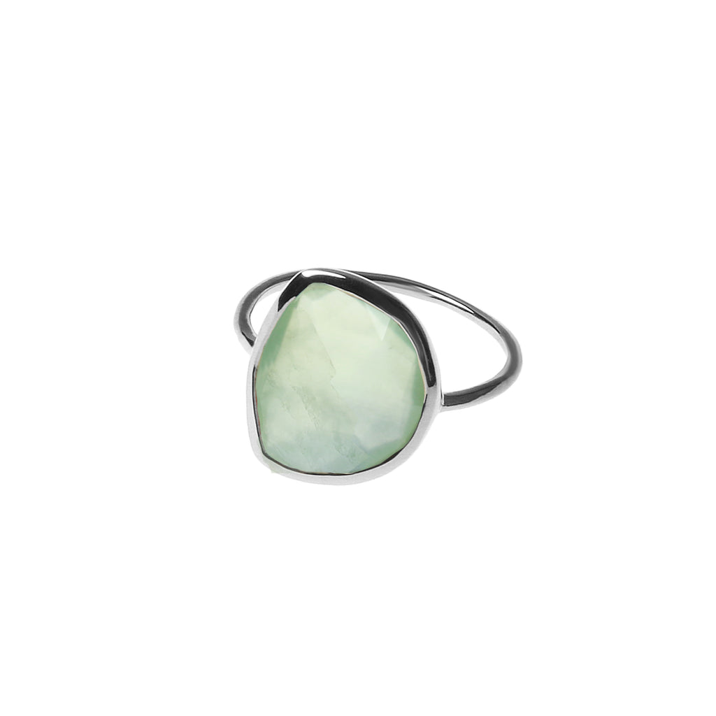 Green Pearl Ring Silver Edition